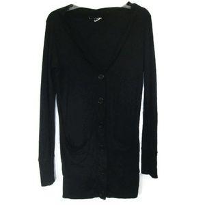 Jackets & Blazers - long black cardigan jacket size medium 6 8